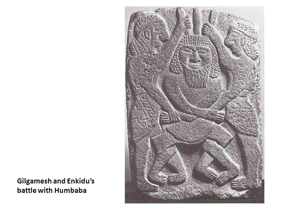 Gilgamesh and Enkidu's battle with Humbaba