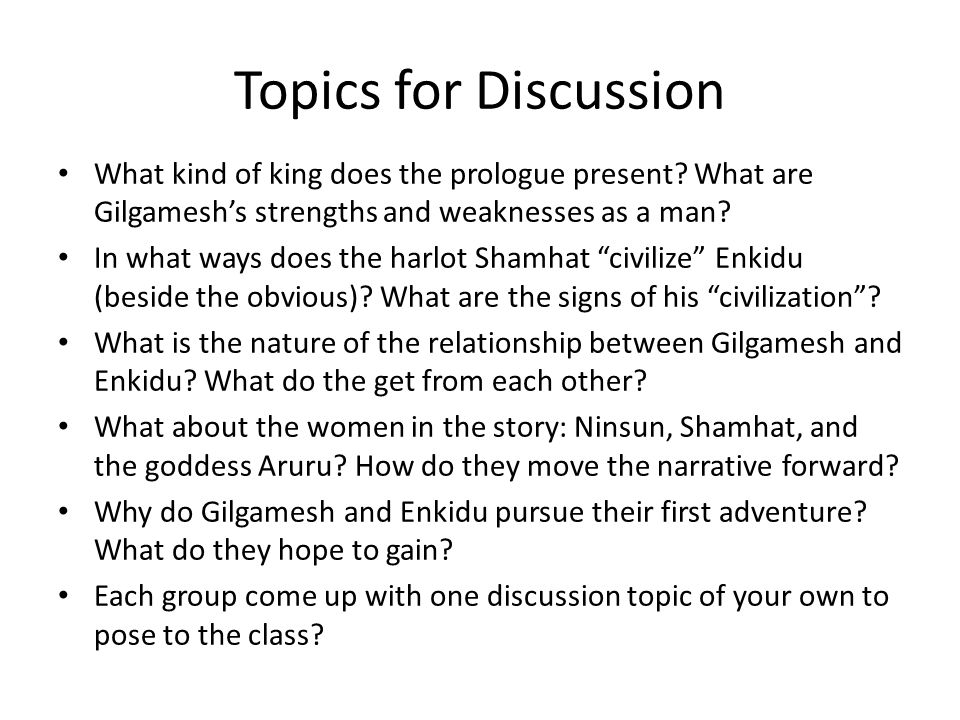 Topics for Discussion What kind of king does the prologue present.