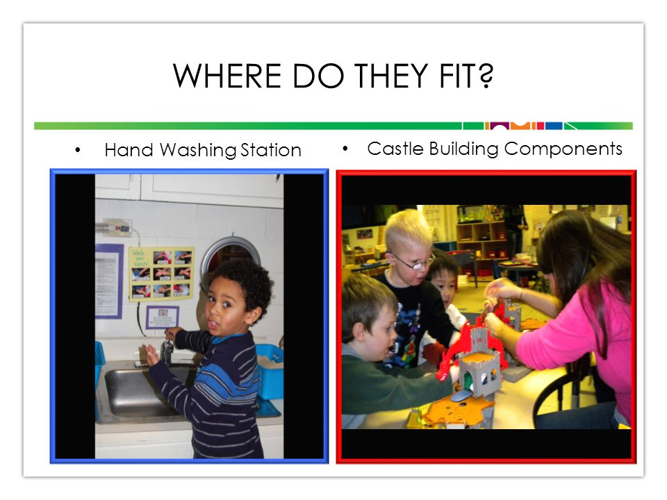 WHERE DO THEY FIT? Hand Washing Station Castle Building Components