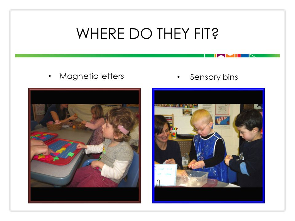 WHERE DO THEY FIT Magnetic letters Sensory bins