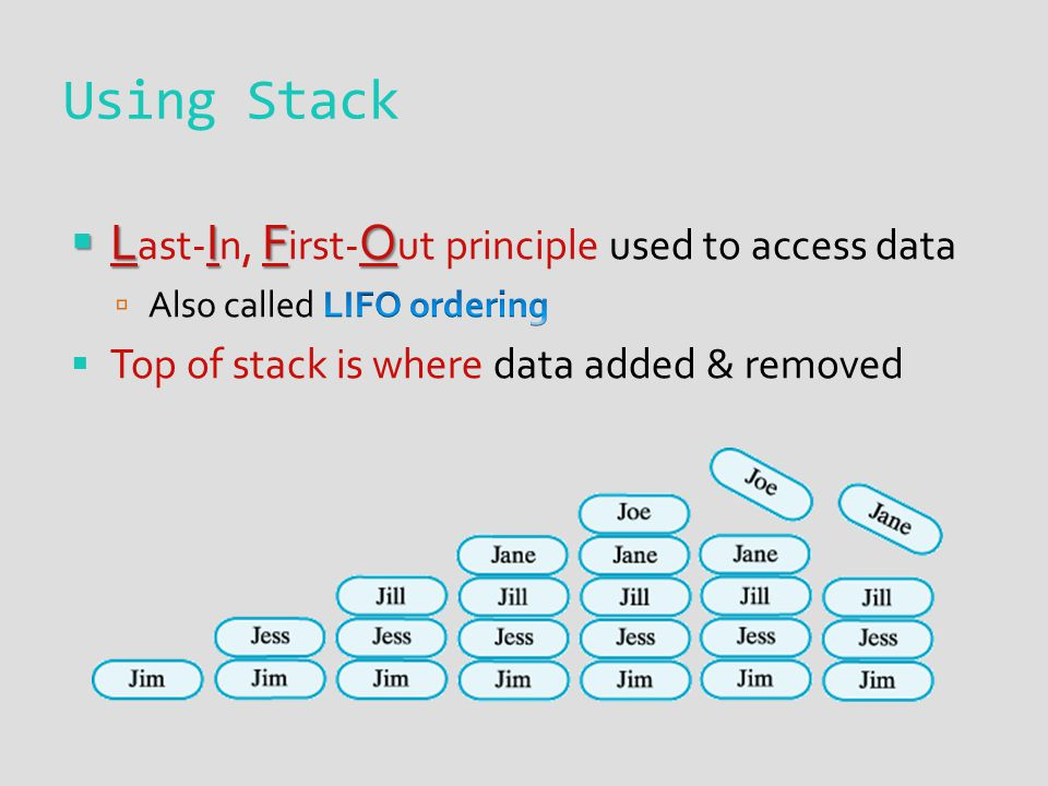Using Stack
