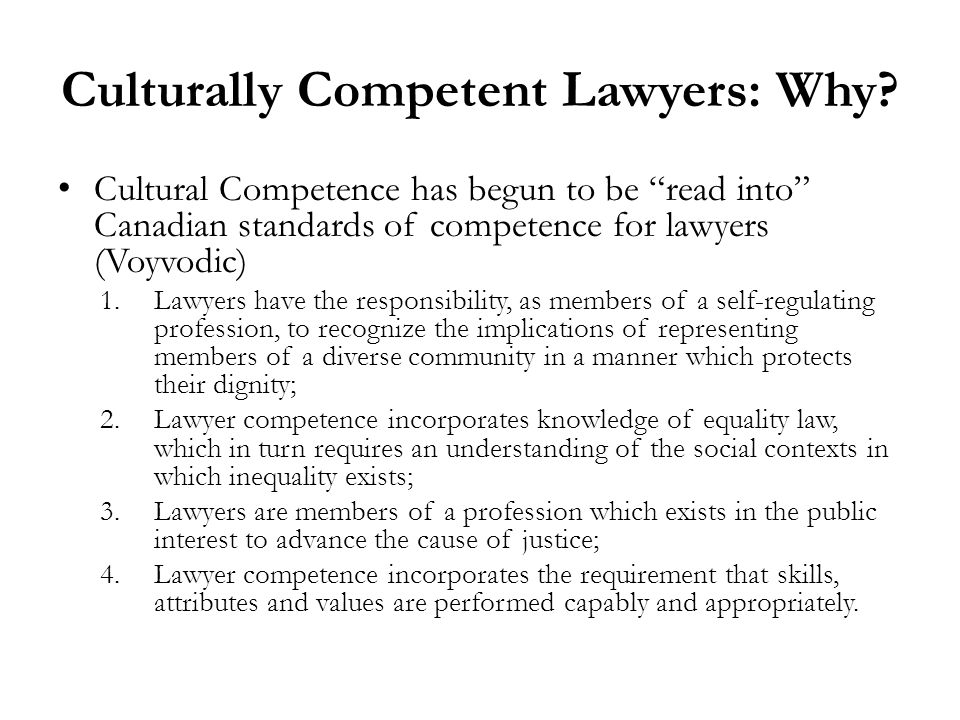 Culturally Competent Lawyers: Why.