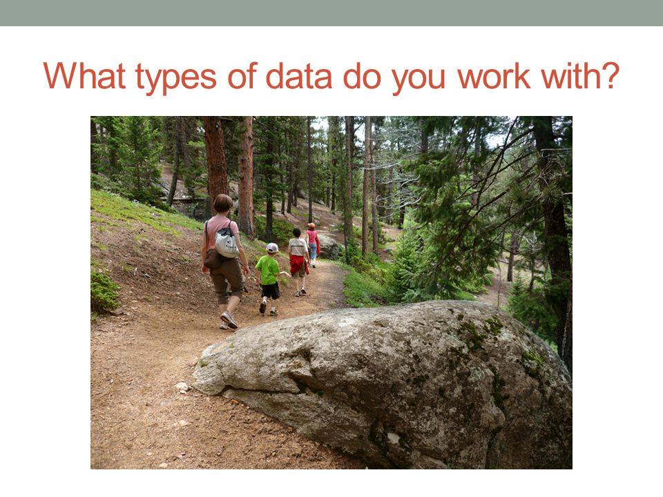 What types of data do you work with?