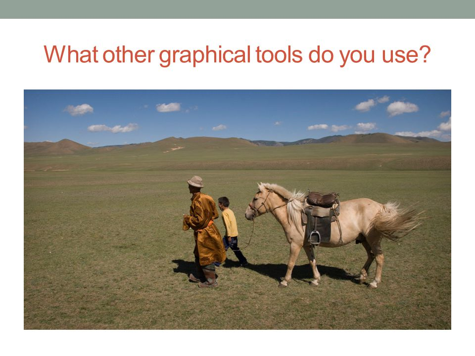 What other graphical tools do you use?