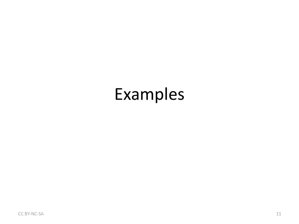 Examples CC BY‐NC‐SA11