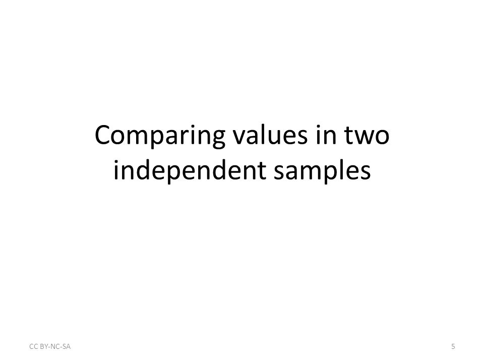 Summary of tests of proportions in two independent samples Comparing qualitative variable across two categories – A qualitative dependent variable with two outcomes (binary) and a nominal independent variable with two outcomes (binary) Large sample – Easy to calculate with minimal information from contingency table – Easy to interpret, including confidence intervals Small sample – Use Fisher's Exact Test Can you think of other potential proportions in pairs of independent samples you might want to compare.
