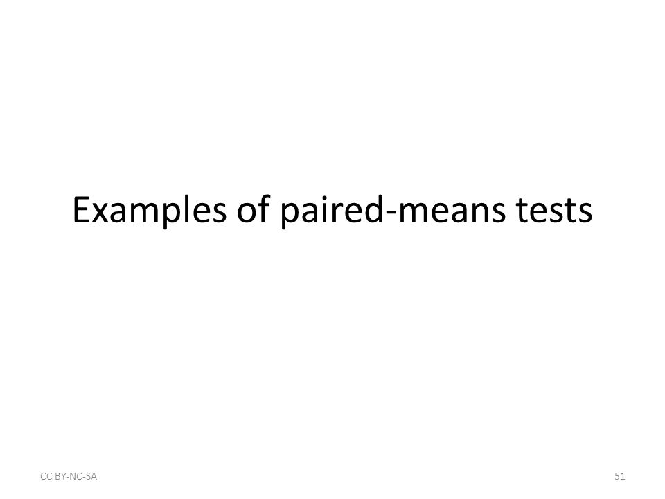 Examples of paired-means tests CC BY‐NC‐SA51