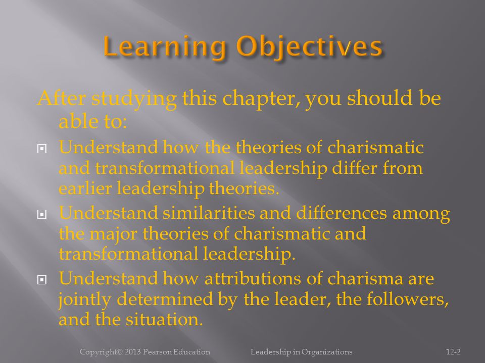  Understand what traits, behaviors, and influence processes are involved in charismatic and transformational leadership.