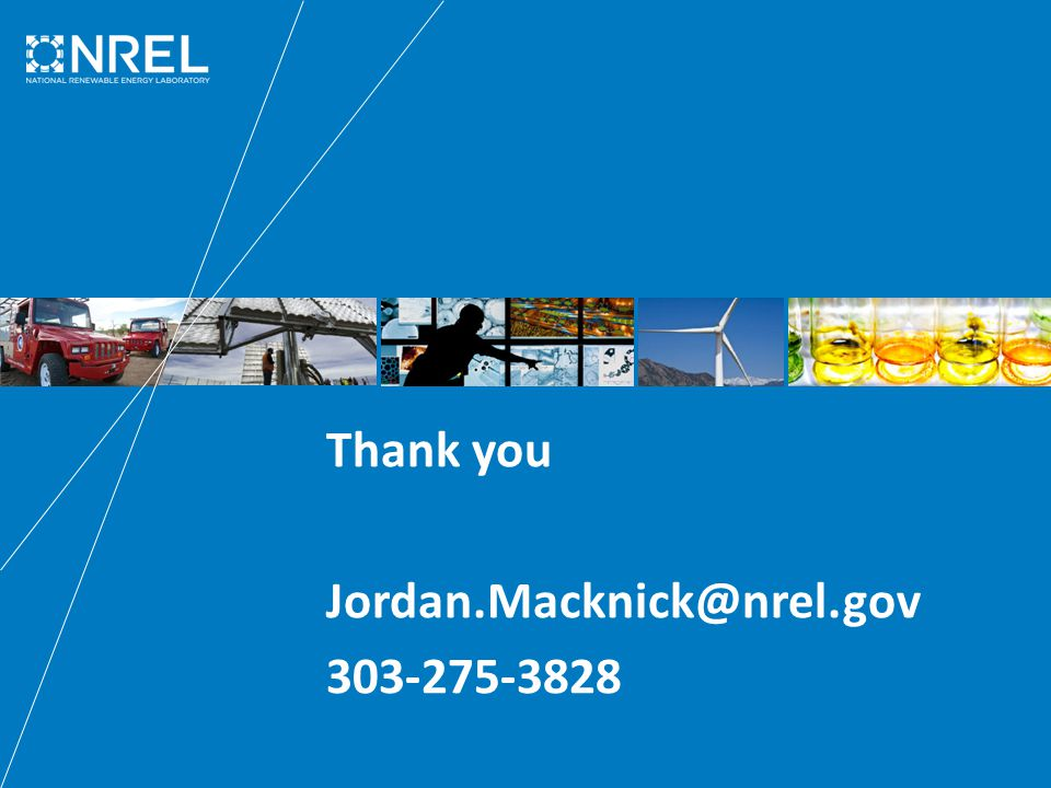 Thank you Jordan.Macknick@nrel.gov 303-275-3828