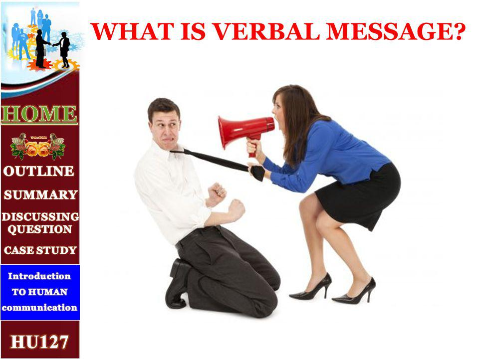 WHAT IS VERBAL MESSAGE 3