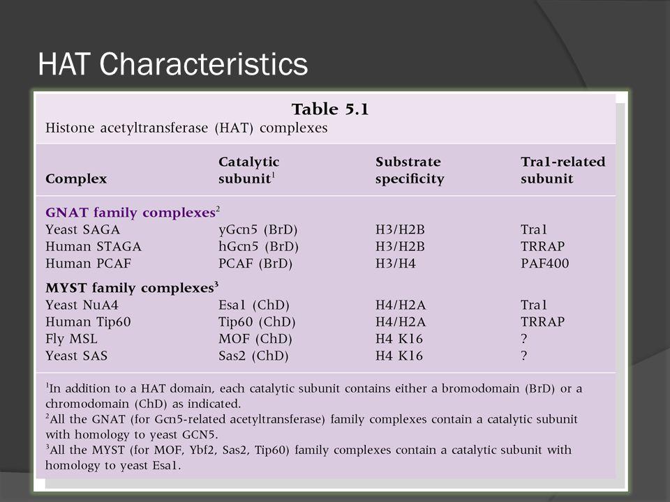 HAT Characteristics