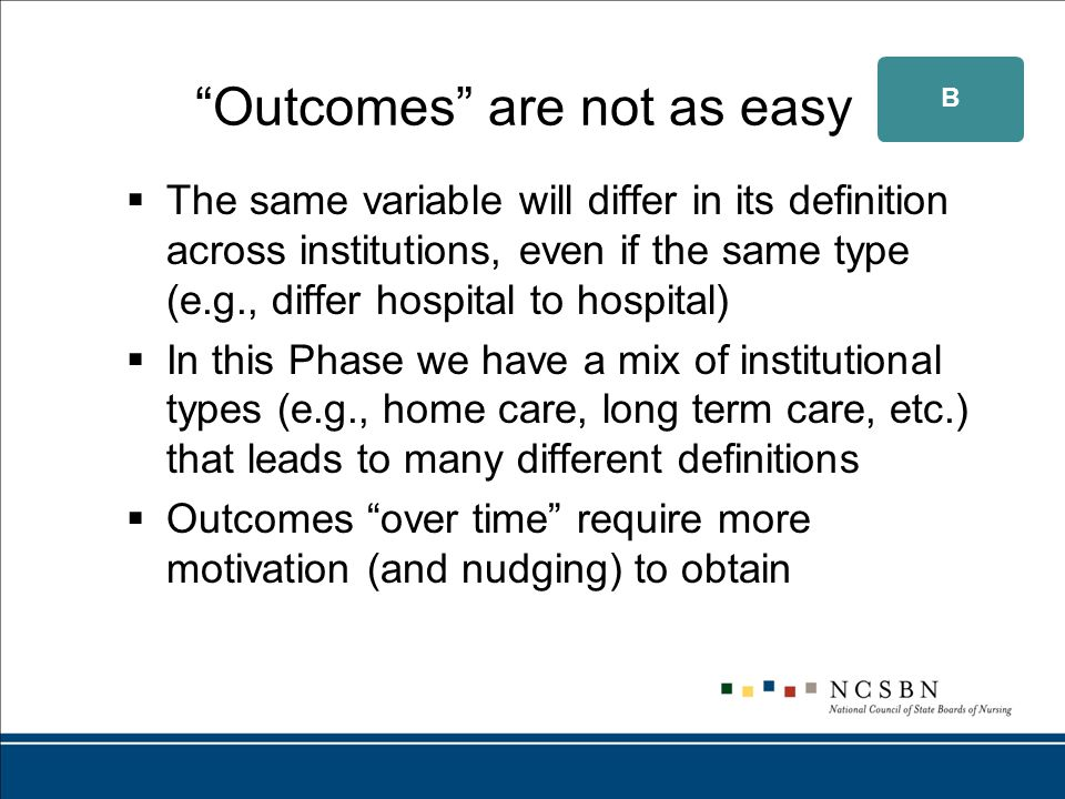 What is important about outcome data.