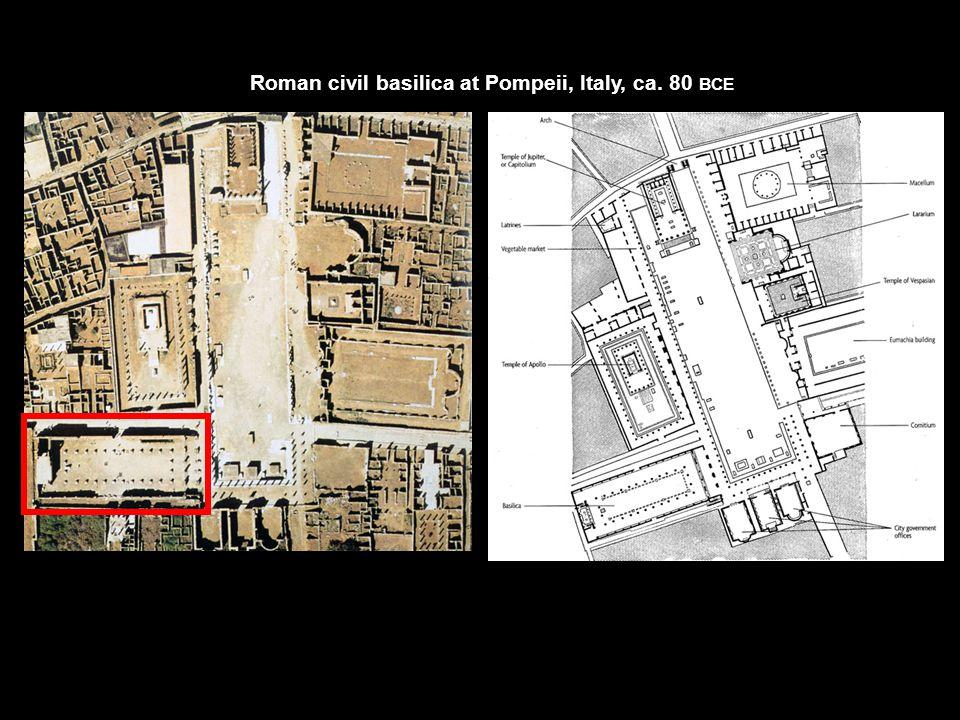 Roman civil basilica at Pompeii, Italy, ca. 80 BCE