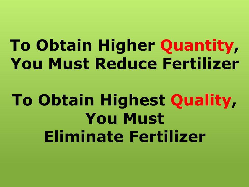 Arkansas Cotton Trial SoilPlant TreatmentBrix (%)Nitrates (ppm) Nitrates (ppm) 100% Fertilizer 7.60 b 150 b 2000 b SG + 50% Fertilizer 13.00 a 210 a 2500 a a,b Within a column, means without a common superscript differ (p<0.05).