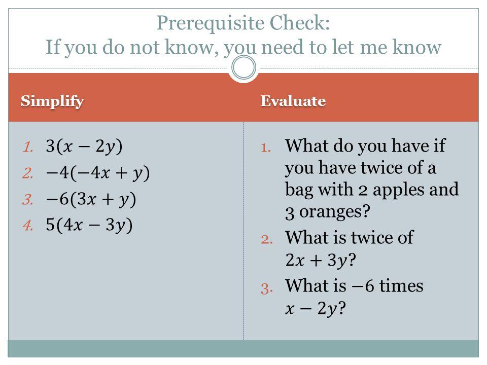 Checkpoint ANSWER if you get a false equation; if you get a true equation 4.