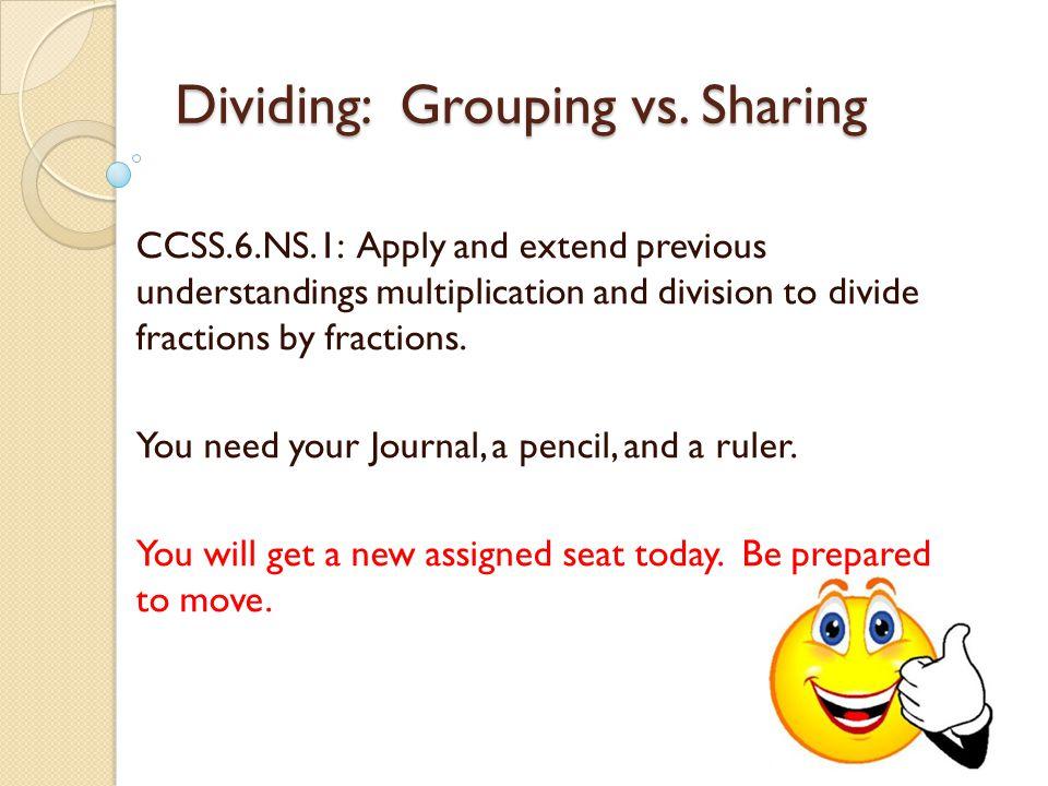 Dividing: Grouping vs.