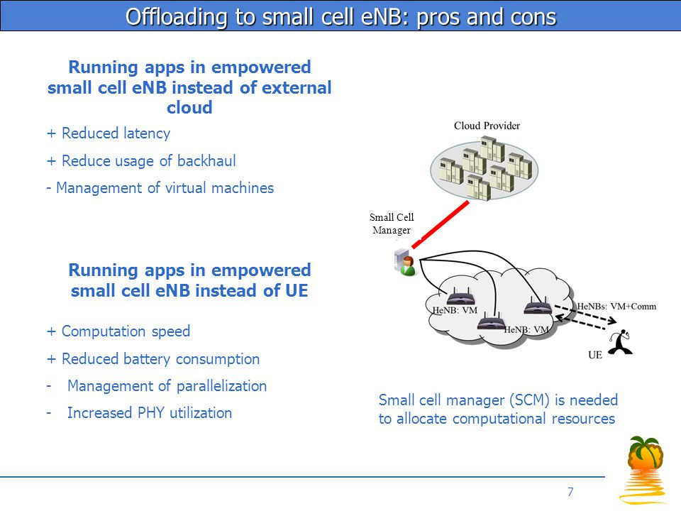 Technical scenarios SCM serving single cell SCM serving multiple cells Coexistence of multiple SCM and cells