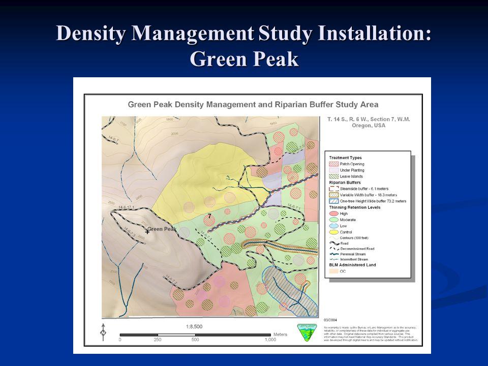 Density Management Study Installation: Green Peak