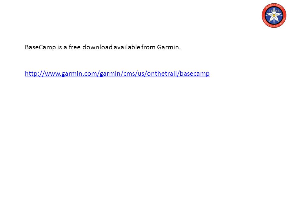 BaseCamp is a free download available from Garmin. http://www.garmin.com/garmin/cms/us/onthetrail/basecamp http://www.garmin.com/garmin/cms/us/onthetr
