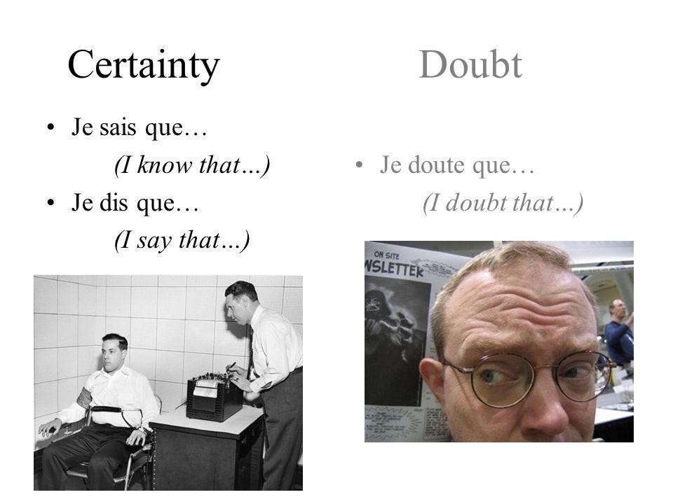 D weirDos doubt
