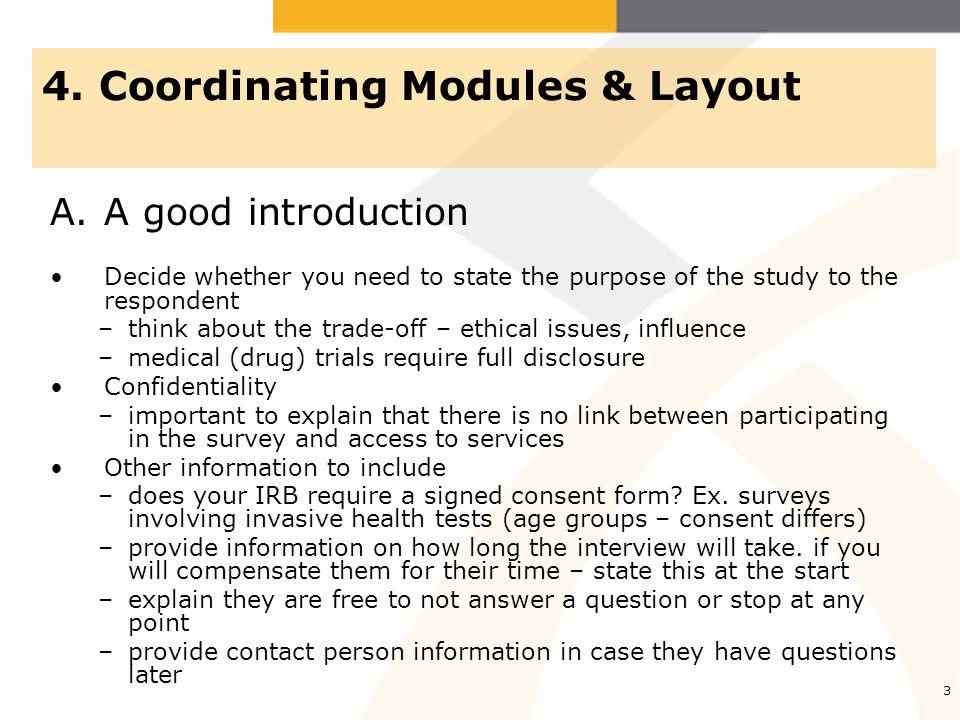 4 4.Coordinating Modules & Layout B.