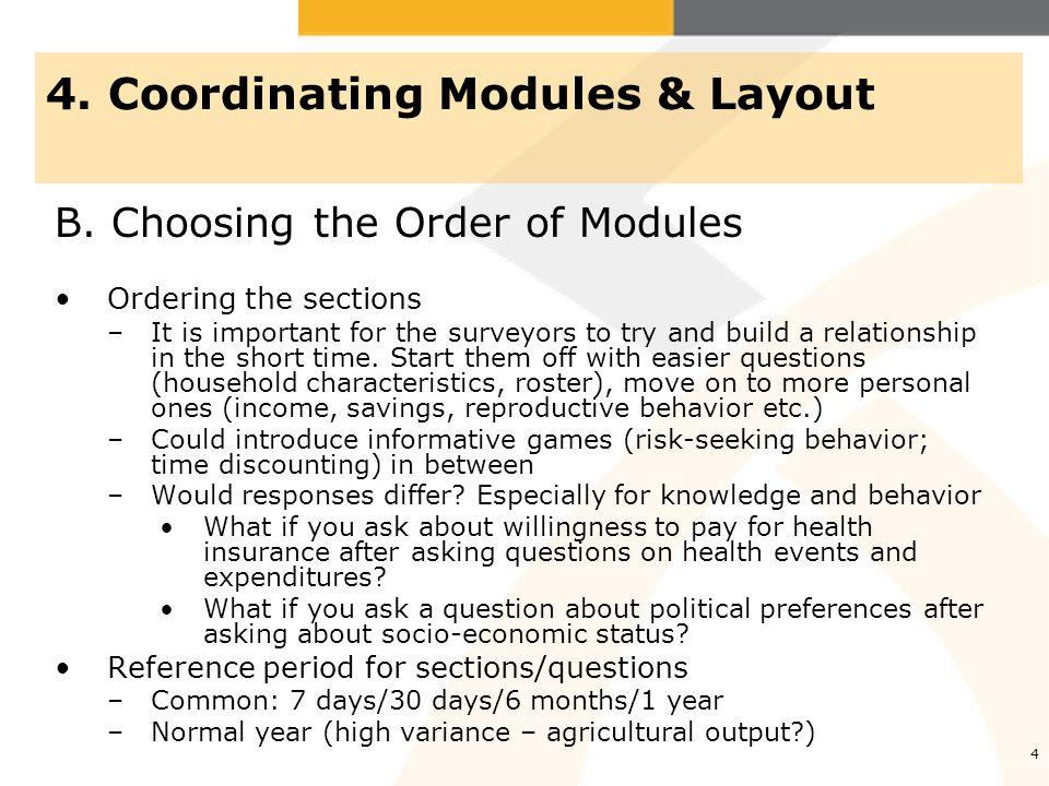 4.Coordinating Modules & Layout B.