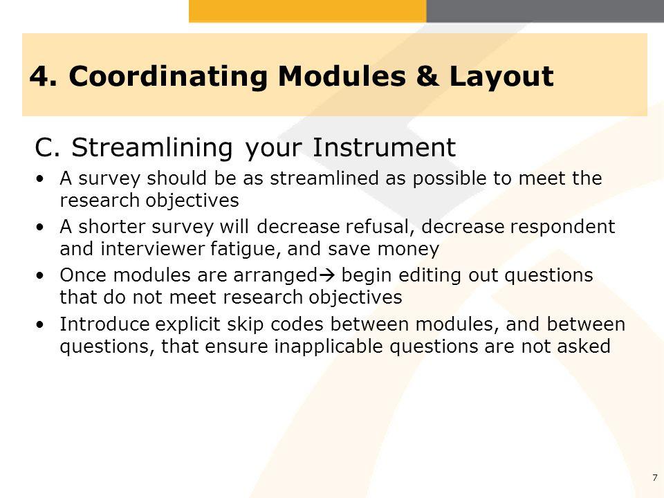 4.Coordinating Modules & Layout C.