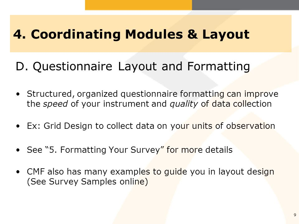 4. Coordinating Modules & Layout D.