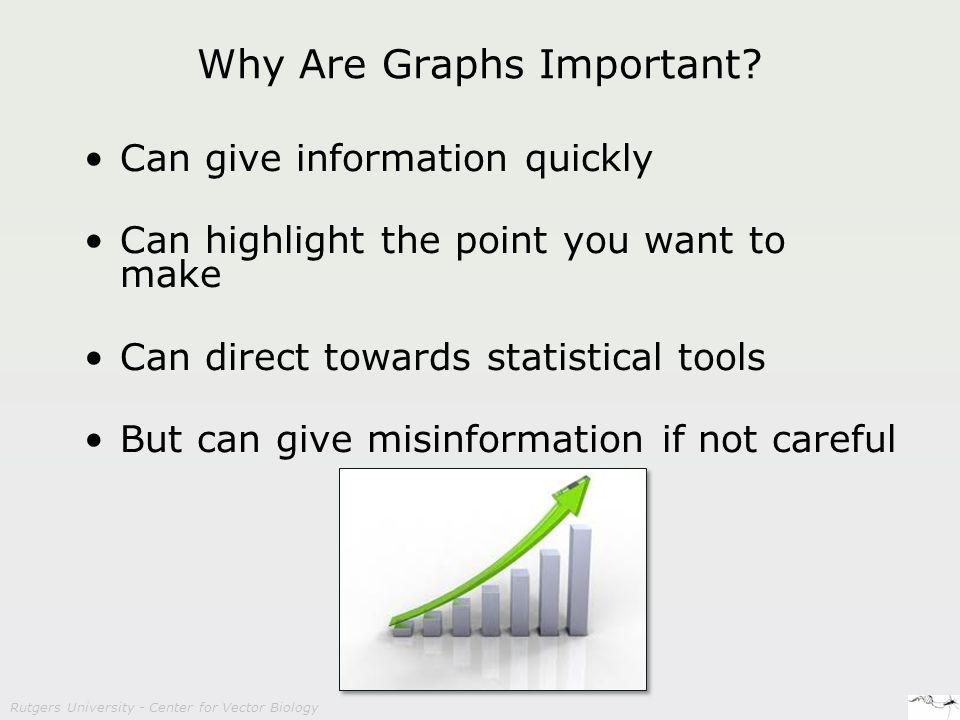 Rutgers University - Center for Vector Biology Why Are Graphs Important.