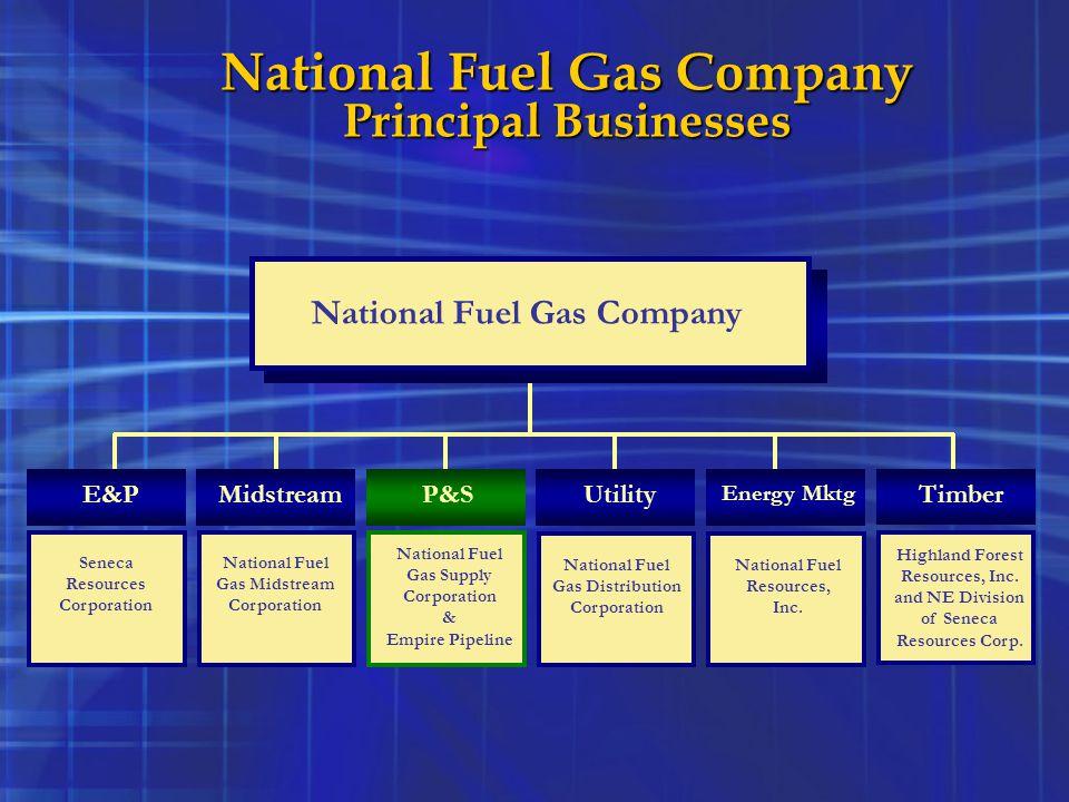National Fuel Gas Company Principal Businesses E&P Seneca Resources Corporation National Fuel Gas Company Timber Highland Forest Resources, Inc. and N