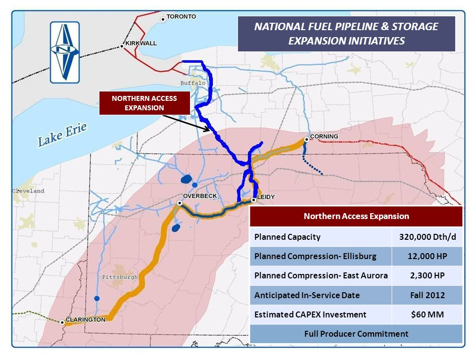 34 NATIONAL FUEL PIPELINE & STORAGE EXPANSION INITIATIVES NORTHERN ACCESS EXPANSION Northern Access Expansion Planned Capacity320,000 Dth/d Planned Co