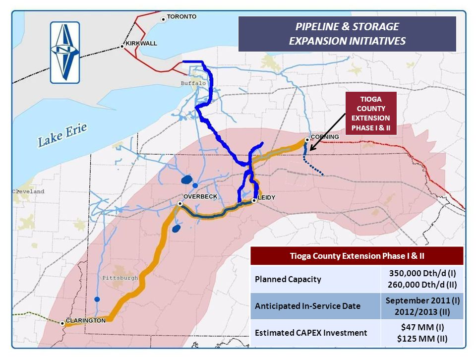 35 PIPELINE & STORAGE EXPANSION INITIATIVES Tioga County Extension Phase I & II Planned Capacity 350,000 Dth/d (I) 260,000 Dth/d (II) Anticipated In-S