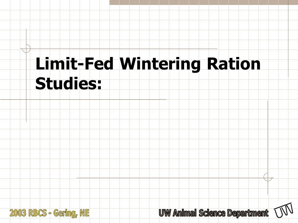 Limit-Fed Wintering Ration Studies: