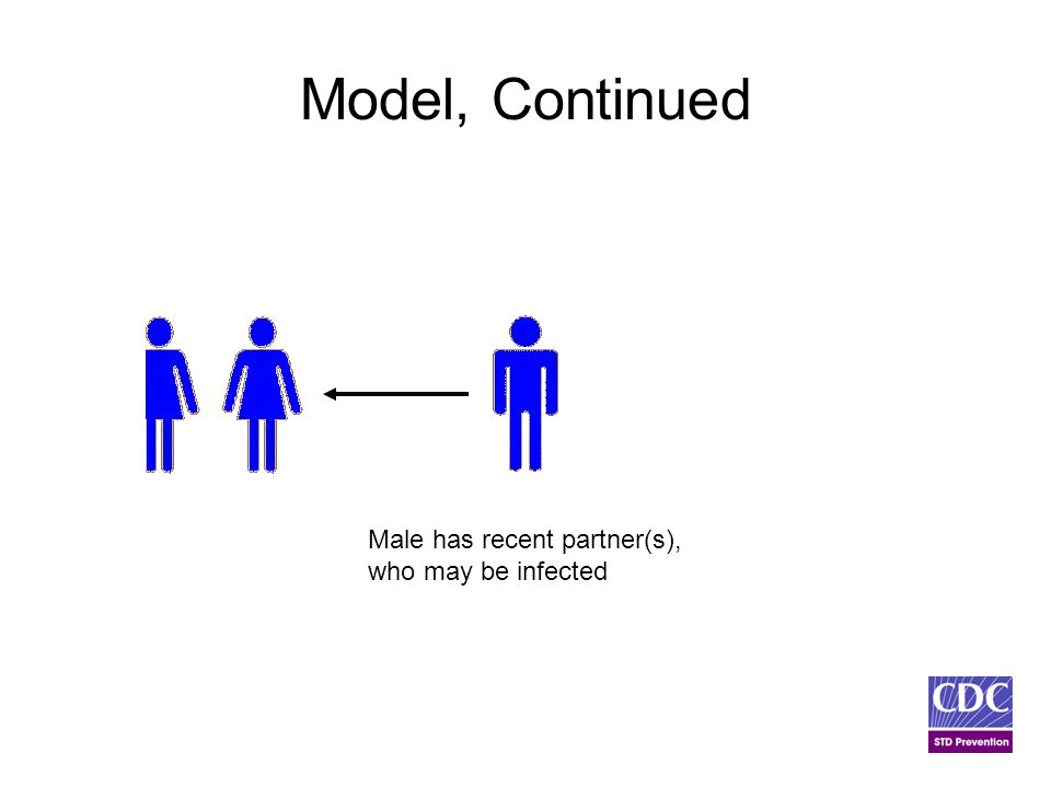 Model, Continued Male has recent partner(s), who may be infected