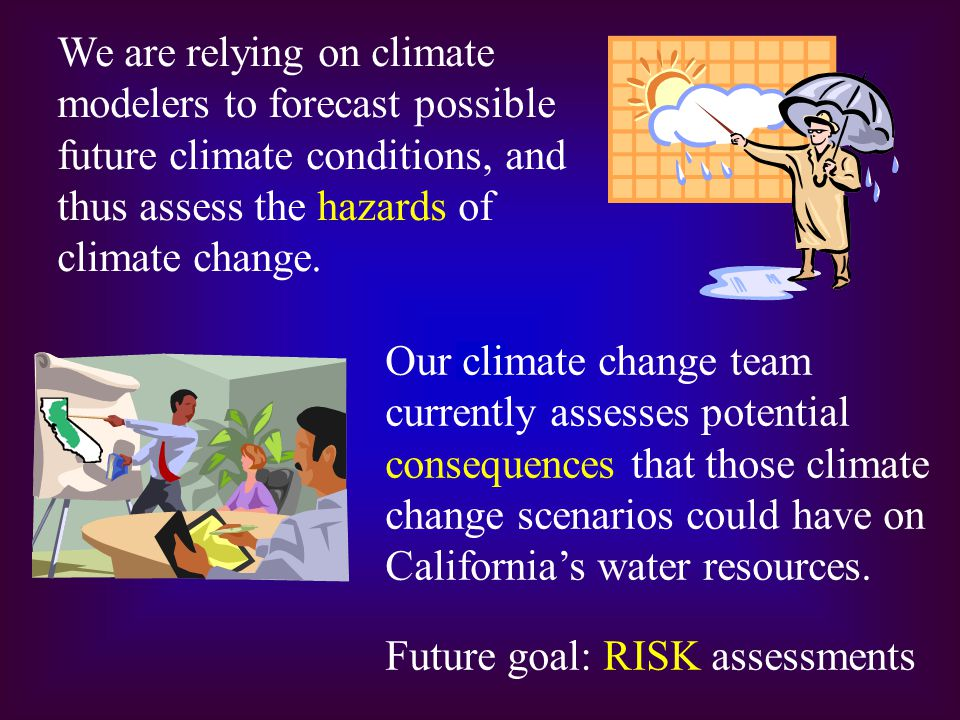 We are relying on climate modelers to forecast possible future climate conditions, and thus assess the hazards of climate change. Our climate change t
