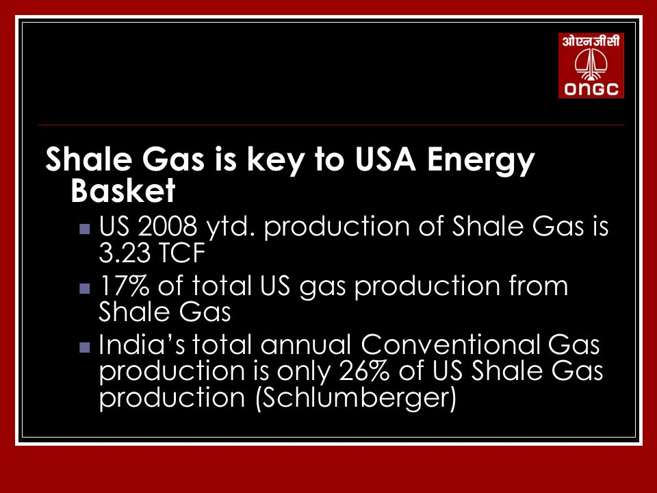 Attractive, Hottest Business Opportunity Across Globe Shale Gas is key to USA Energy Basket US 2008 ytd.