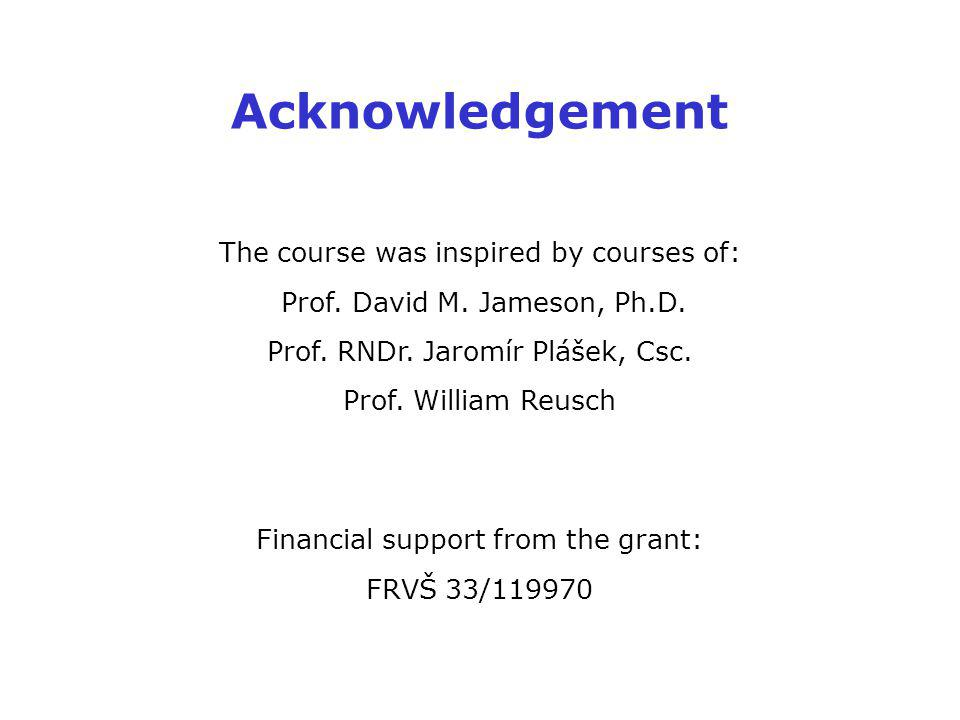 Acknowledgement The course was inspired by courses of: Prof.