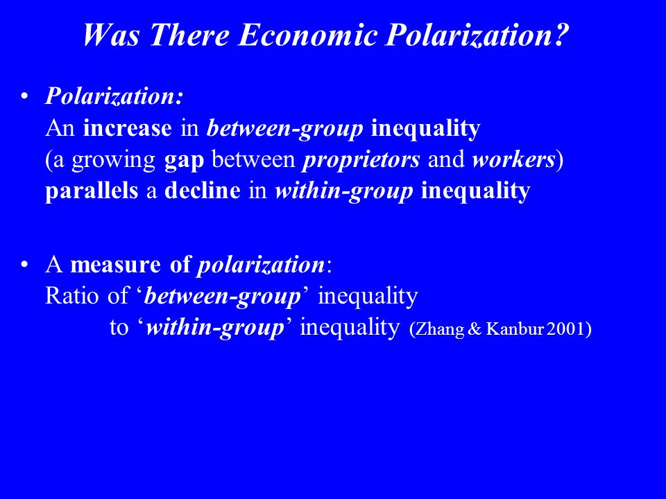 Was There Economic Polarization.