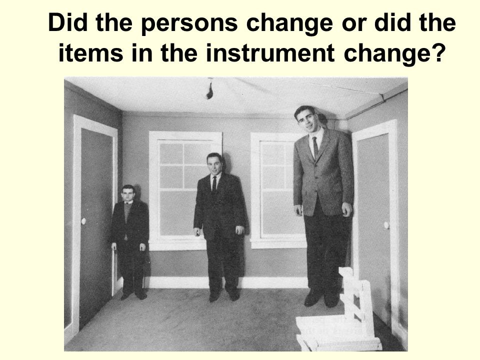 Did the persons change or did the items in the instrument change?