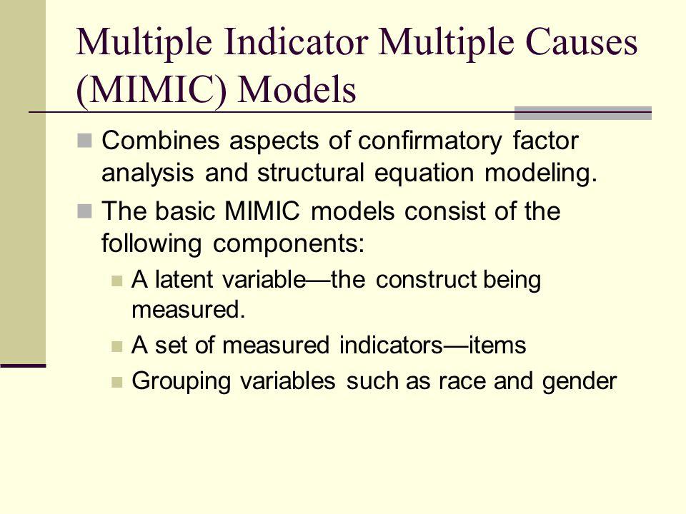 Goodness of Fit ModelCFITLIRMSEA 1 Parameter IRT Basic IRT model.974.970.099 MIMIC No DIF.972.961.076 MIMIC DIF.974.970.075 2 Parameter IRT Basic IRT model.952.994.045 MIMIC No DIF.975.994.03 MIMIC DIF.976.994.03 N Cases = 400, N Observations = 5393