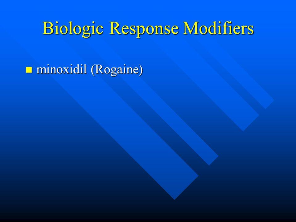 Biologic Response Modifiers n minoxidil (Rogaine)