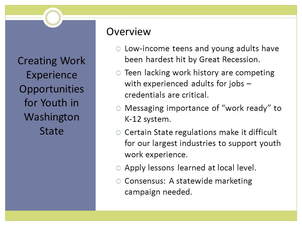 Employers.Educators. Youth. Workforce and economic developers.