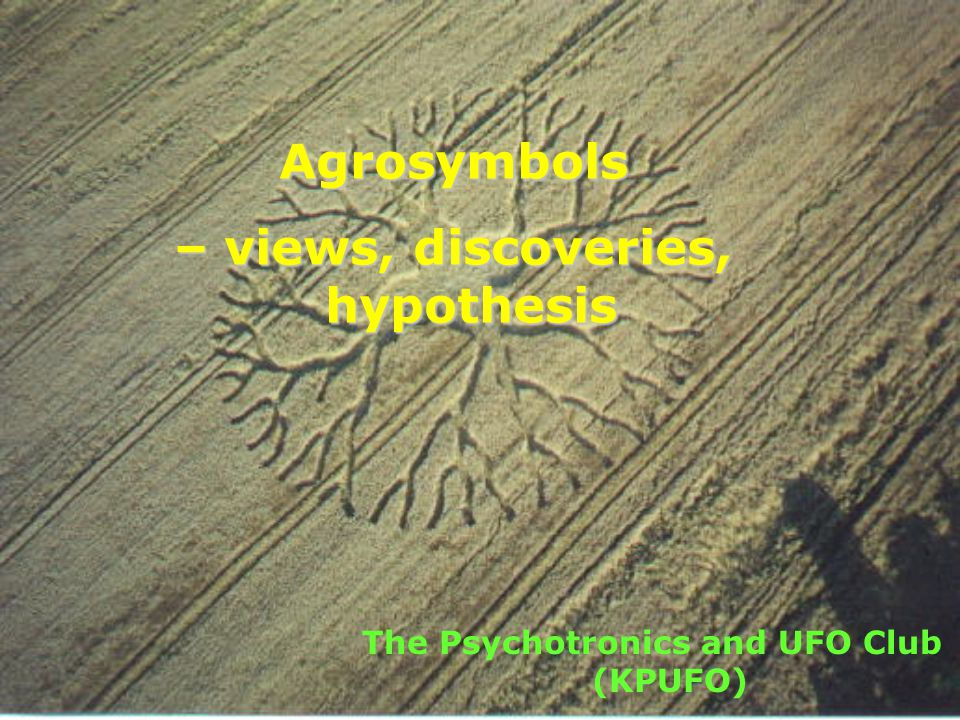 Agrosymbols – views, discoveries, hypothesis The Psychotronics and UFO Club (KPUFO)