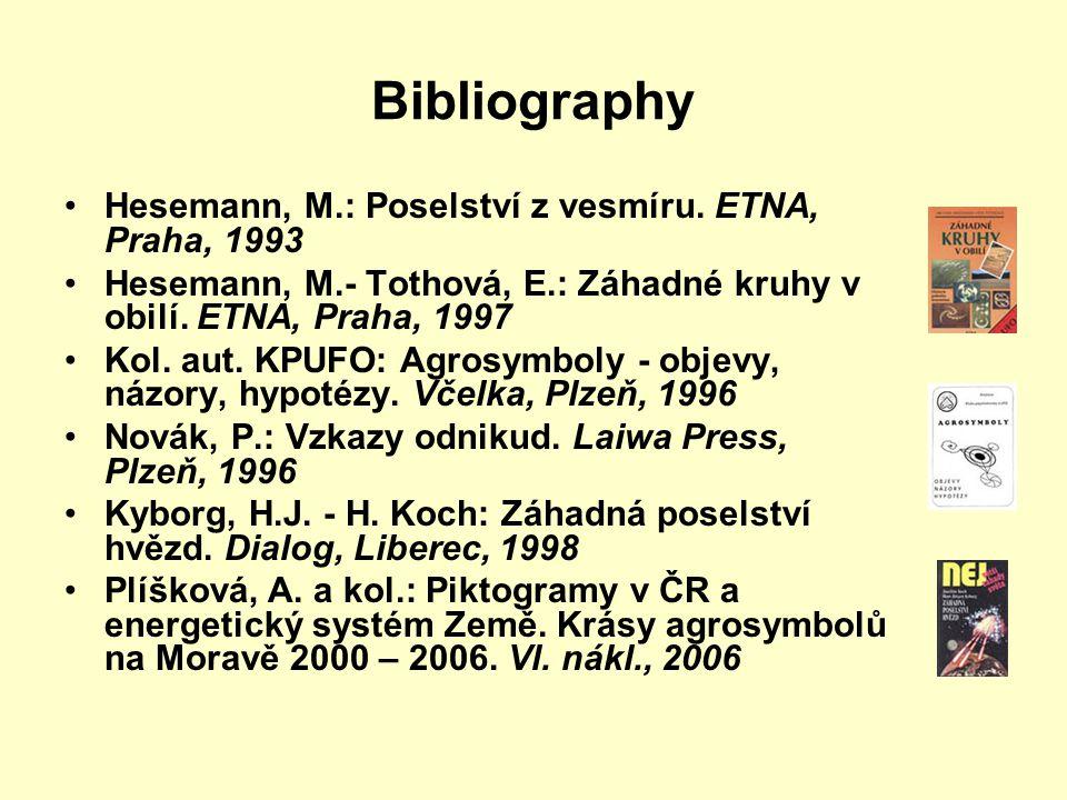 Bibliography Hesemann, M.: Poselství z vesmíru.