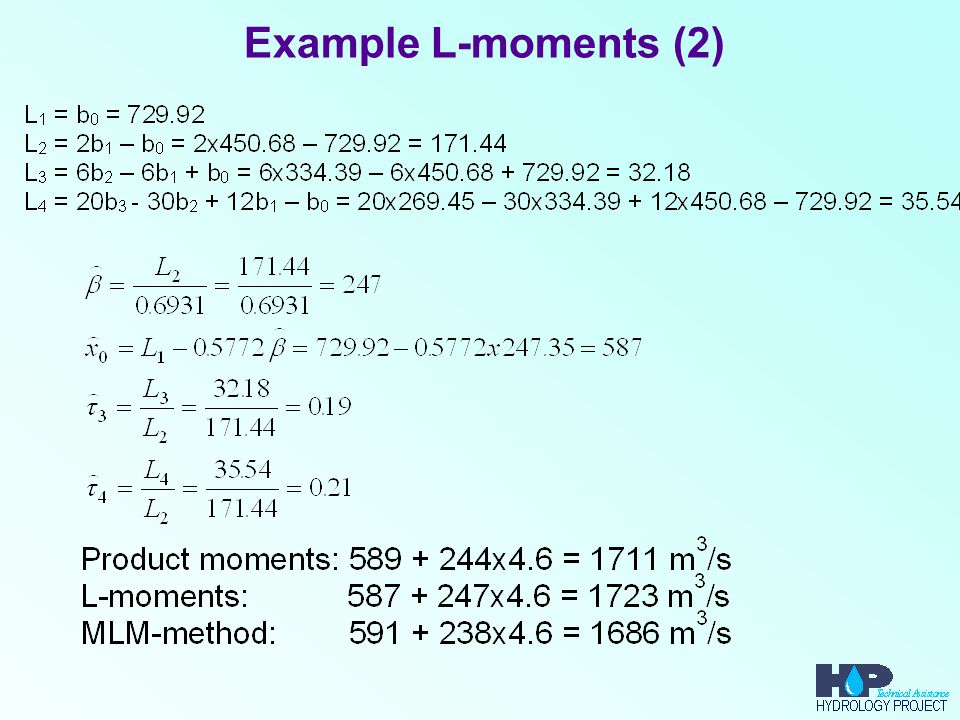 Example L-moments (2)