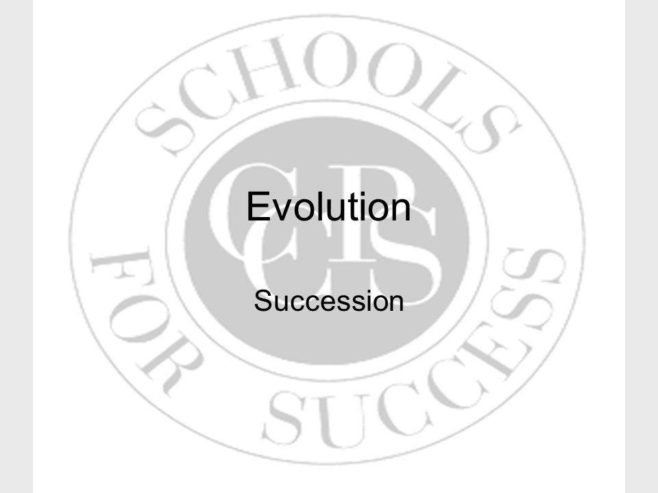 Evolution Succession