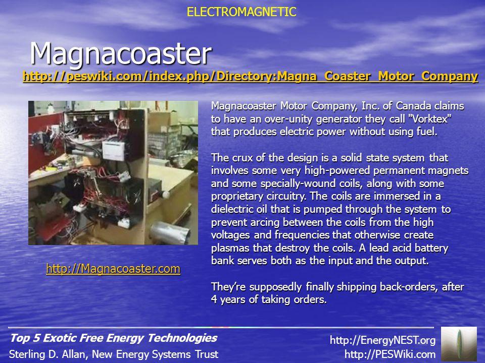 Magnacoaster http://peswiki.com/index.php/Directory:Magna_Coaster_Motor_Company Magnacoaster Motor Company, Inc.