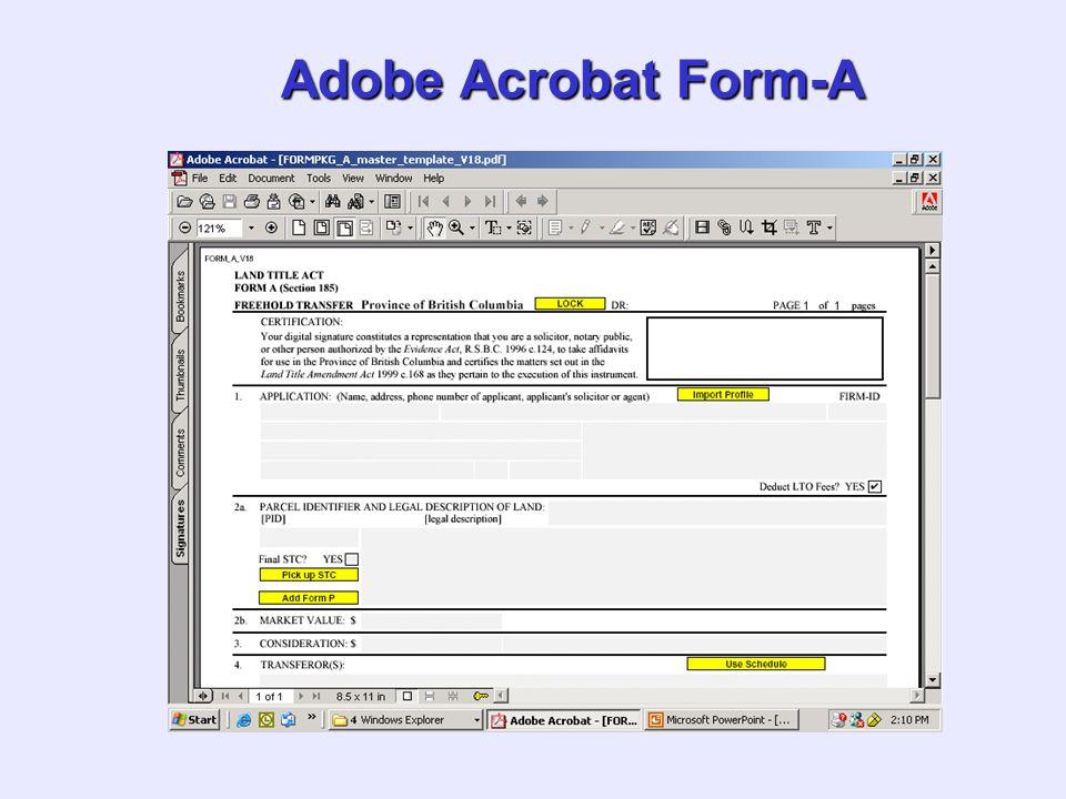 Adobe Acrobat Form-A