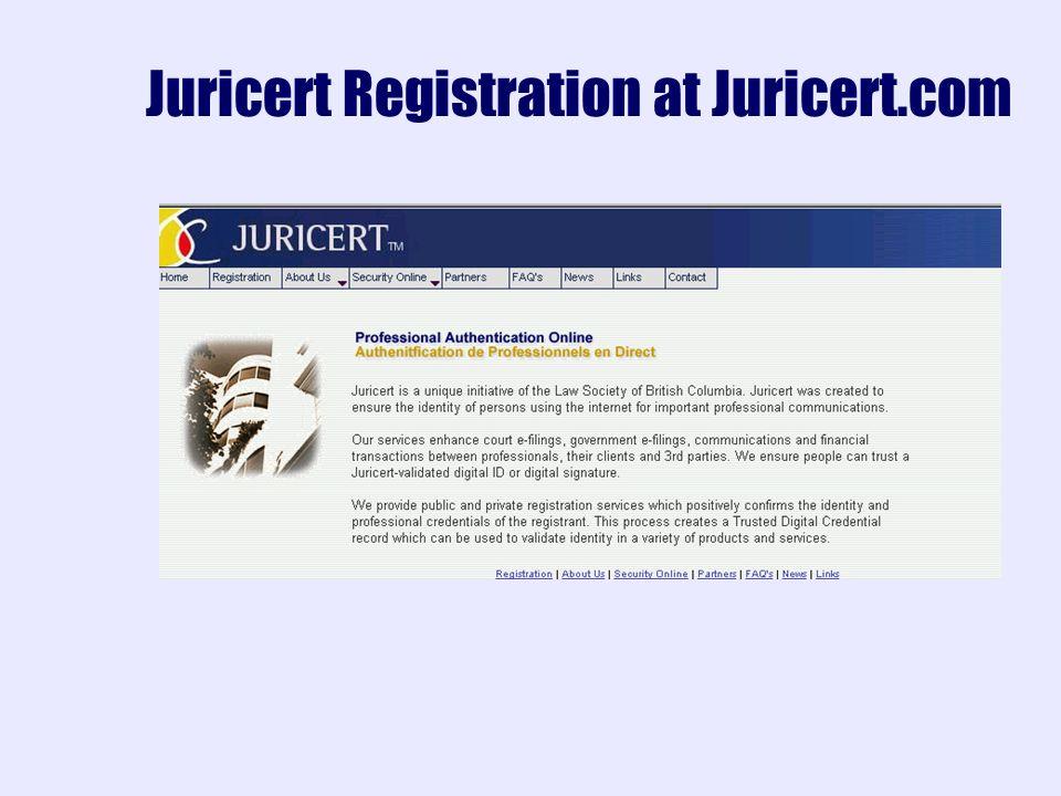 Juricert Registration at Juricert.com
