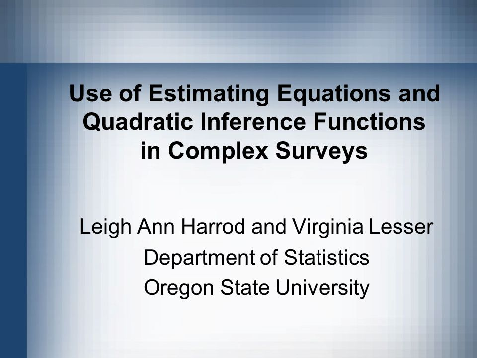 The research described in this presentation has been funded by the U.S.
